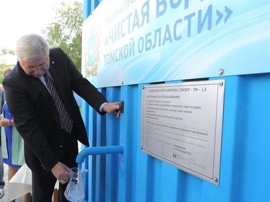 Сергей Жвачкин пьет воду из Каргалы