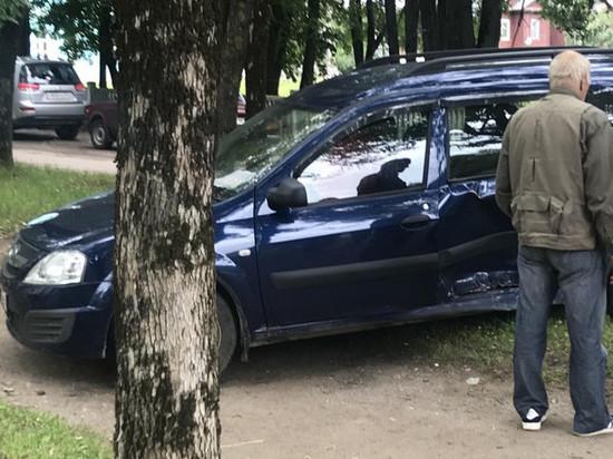 В Тверской области автомобили столкнулись с деревьями, последние немного пострадали