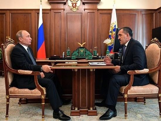 Глава Ингушетии попросил у Путина стадион и поддержку программы водоснабжения