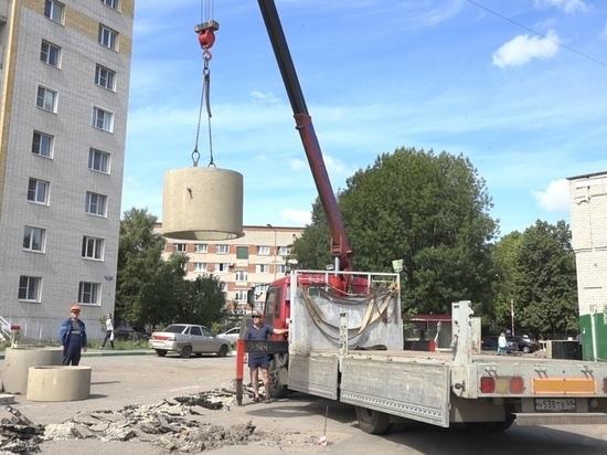 В Тамбове на Никифоровской ведется строительство ливневки