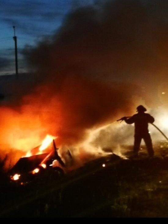 В Мордовии сгорел автомобиль вместе с водителем