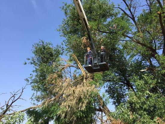 Последствия ураганного ветра и ливня ликвидируют на Ставрополье