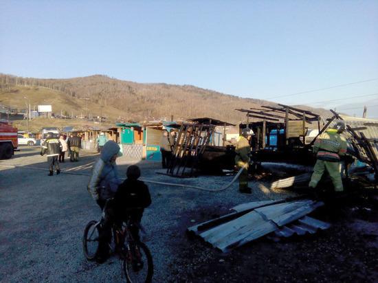 В Култуке сгорел рыбный рынок