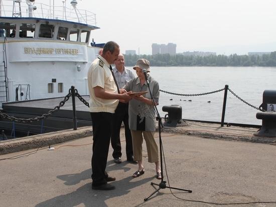 В Красноярске появилось судно «Владимир Путинцев»