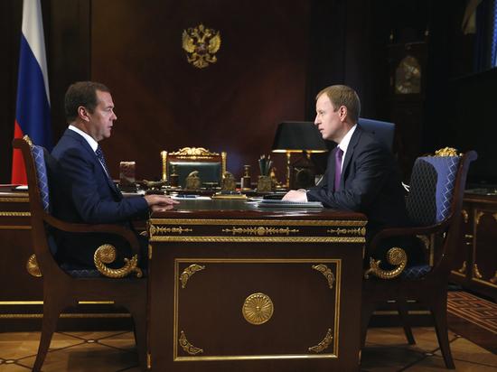 Врио губернатора Алтайского края встретился с Дмитрием Медведевым
