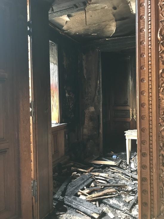 Ущерб от пожара в