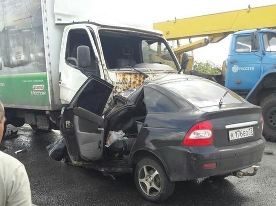 В Мордовии в ДТП погиб водитель легковушки
