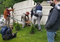 Битва за воду: жители Ленобласти сами спилили забор у коттеджа, чтобы пройти к озерам