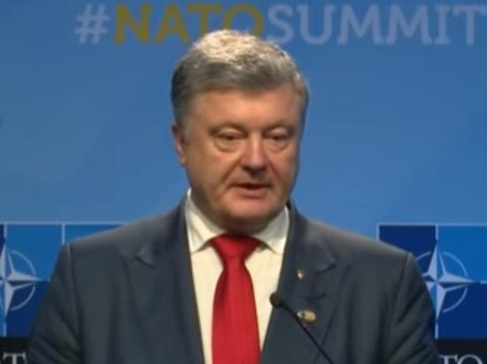 В Интернете появилось фото выступления президента Украины с саммита НАТО