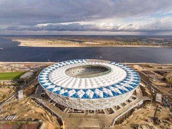 Стадион «Волгоград-Арена» пострадал от дождя