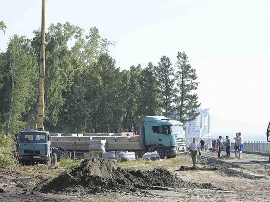 Повреждения на барнаульской набережной устранят ко Дню города