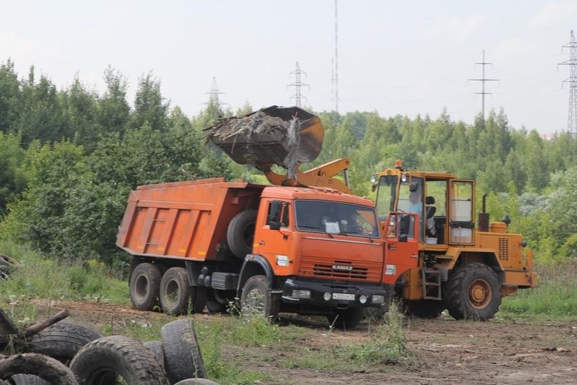 ВТуле наулице Рязанской ведутся работы поликвидации свалки
