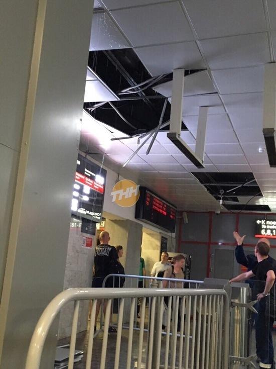Потолок развалился в здании железнодорожного вокзала Нижнего Новгорода