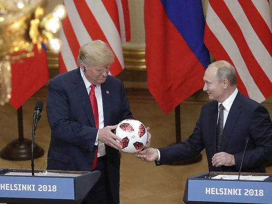 Служба безопасности Трампа проверила подаренный Путиным в Хельсинки футбольный мяч