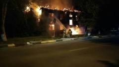 В Нижнем Новгороде сгорел деревянный дом на улице 50 лет Победы