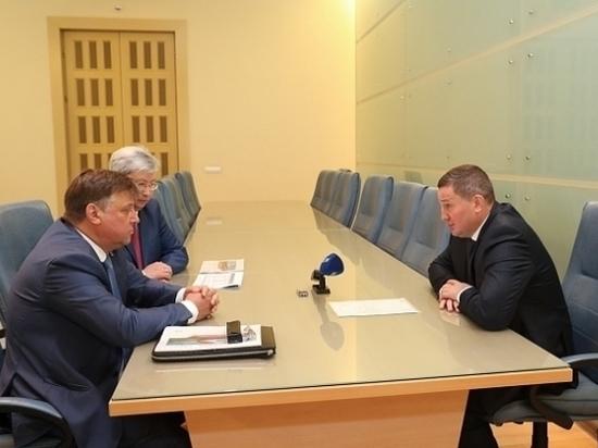 Бочаров обсудил с руководством железных дорог совместные проекты