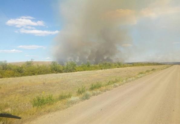 Под Оренбургом локализован природный пожар, угрожавший двум селам— МЧС