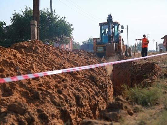 В селе Сасыколи Астраханской области реконструируют водопровод