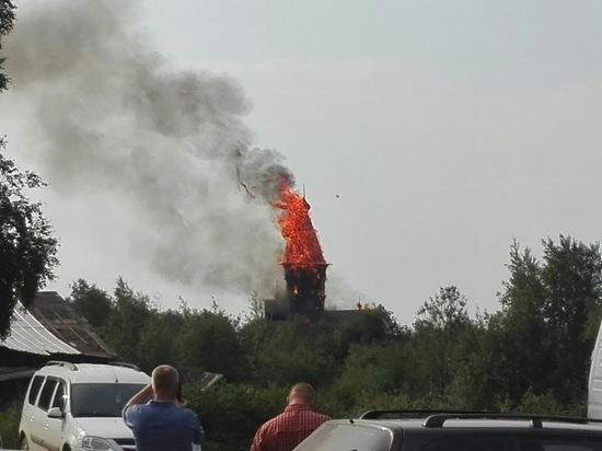СРОЧНО в Кондопоге пылает Успенская церковь
