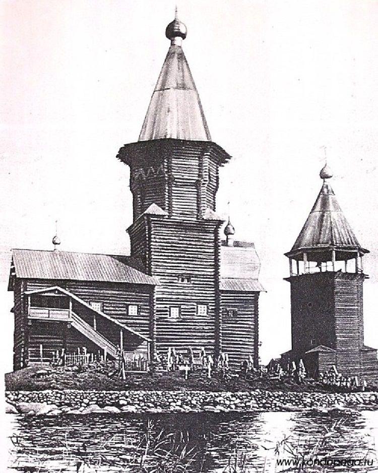 Какой была и как погибла кондопожская Успенская церковь