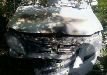 «Ларгус» с тремя детьми в салоне загорелся после ДТП в Чувашии