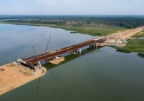 При строительстве переправы через тверскую речку использовались технологии Крымского моста