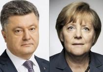 Порошенко обсудил с Меркель вызовы безопасности