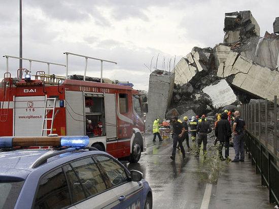 Двое украинцев получили тяжелые травмы при обрушении моста в Генуе