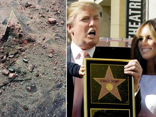 """Разбивший звезду Трампа на голливудской """"Аллее славы"""" заявил о невиновности"""