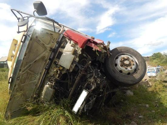 В Чите водитель грузовика насмерть сбил пешехода, который двигался по проезжей части