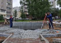 ККС продолжают строительство фонтана «Парящий камень»
