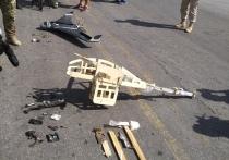 На российской авиабазе в Сирии показали сбитые беспилотники террористов