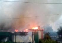Пожар на Новой Казацкой в Курске. Фото