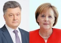 Меркель рассказала Порошенко о результатах встречи с Путиным