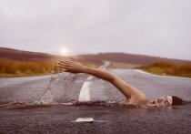 Дороги Петрозаводска затапливает из-за сильного дождя