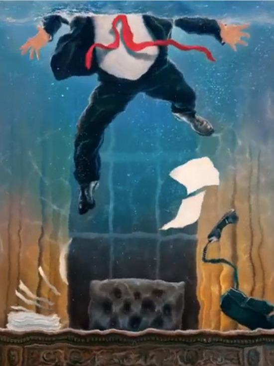 Автор обложки журнала Time объяснил изображение затопленного кабинета Трампа