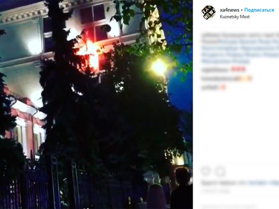 Как горело строение Центробанка Российской Федерации в столице - «чрезвычайное» видео