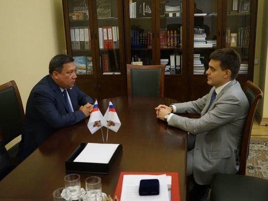 Владимир Полетаев встретился с Министром науки и высшего образования РФ Михаилом Котюковым