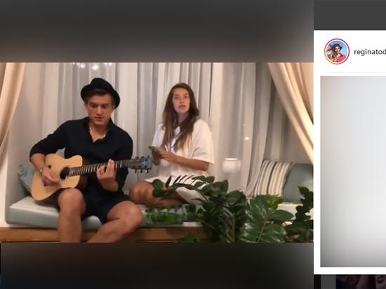 Беременная Регина Тодоренко спела с молодым мужем Владом Топаловым