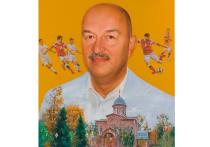 Свою лепту в чествование главного российского тренера Станислава Черчесова, которому 2 сентября исполнилось 55 лет, внес известный российский художник Никас Сафронов
