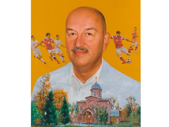 На юбилей главный тренер сборной получил портрет