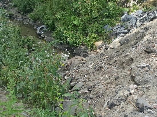 В Барнауле засыпали Пивоварку, решая проблему рухнувшего моста