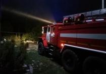 На пожаре в Маслово пострадал человек