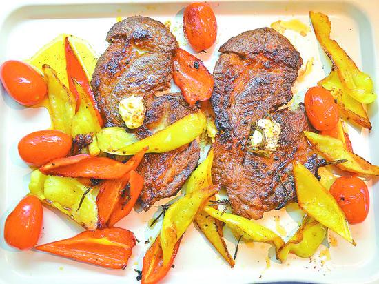 Как приготовить стейк из говядины с овощами