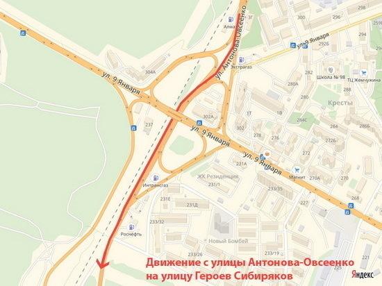 В Воронеже с 1 сентября развязка на 9 Января начала пропускать транспорт во всех направлениях