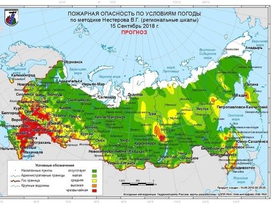 В Псковской области прогнозируют высокую пожарную опасность