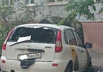 В Оренбурге возле центра детского творчества взорвалось такси