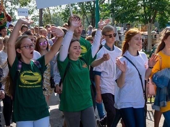 В Южно - Сахалинске состоялось массовое посвящение в студенты