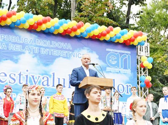 Игорь Додон: Молдова – общий дом   для всех проживающих здесь народов