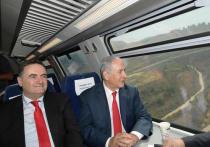 Биньямин Нетаниягу и Исраэль Кац совершили поездку по новой ветке Иерусалим - Бен-Гурион